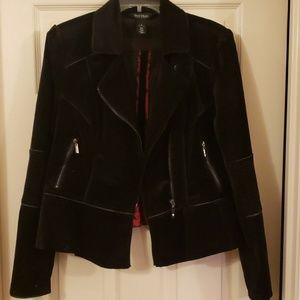 Stunning faux suede WHBM jacket sz 12